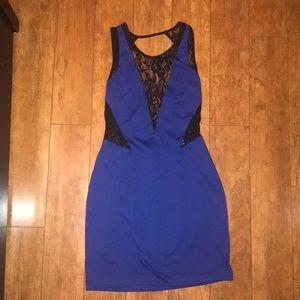 Dresses & Skirts - Lace Cut Out Mini Dress